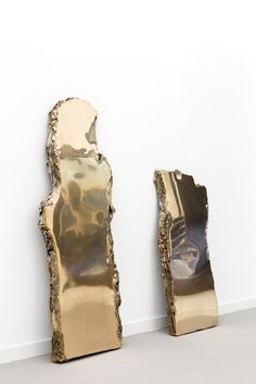 """Lucy Skaer's work mediates on materials, the meanings they emit, and how those meanings transform. """"Forest"""" takes wood slabs and casts them in bronze. Wood Slab, Mother And Child, Sculpture Art, Home Accessories, Bronze, Mirror, Interior Design, Gallery, Inspiration"""