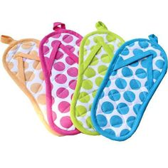Flip Flop Pot Holders   Patty, I thought you might need some more pot holders.