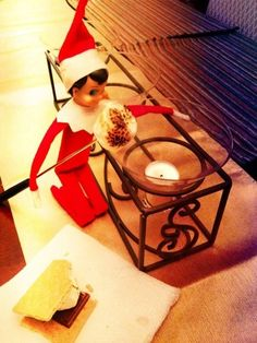 Candle Marshmallow Roasting  (Elf on the Shelf ideas by tammy)