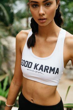 eb6bf8ba6c GOOD KARMA ATHLETIC BRA WHITE. Spiritual GangsterSporty ChicSport ...