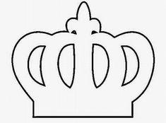 Molde de Coroa para Imprimir: Príncipe, Princesa, Rei, Coroinha Crown Cupcake Toppers, Minnie Mouse Birthday Decorations, Paper Flower Patterns, Diy Birthday Banner, Crown Template, Cinderella Birthday, Baby Clip Art, Diy Crown, Baby First Birthday