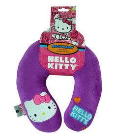 Another great find on #zulily! Hello Kitty Purple Hello Kitty Neck Pillow by Hello Kitty #zulilyfinds