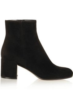 It's NYFW: Gianvito Rossi Suede ankle boots / Garance Doré