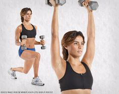 This One Simple Move Will Work Your Entire Body - Dumbbell Hammer Curl to Lunge to Press
