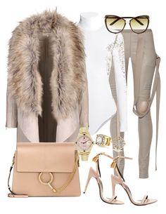 Baby it's Cold Outside by styledbytammy on Polyvore featuring polyvore fashion style Rick Owens Wolford Tom Ford Chloé Rolex Bling Jewelry clothing