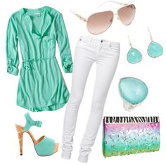 Turquoise Summer by daisylovee on Polyvore