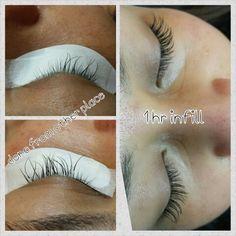 Eyelash extensions - refill other's work. Fransförlängning