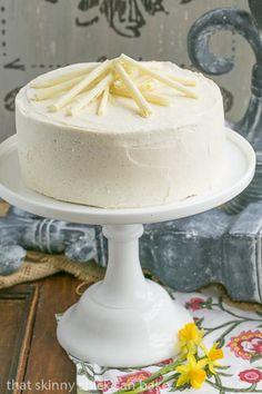 White Birthday Cake | An exquisite white cake with vanilla bean buttercream @lizzydo