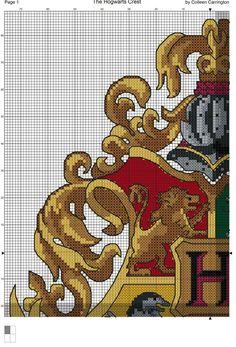 The Hogwarts Crest Cross Stitch Chart PDF available here :) Free Cross Stitch Charts, Cross Stitch Bookmarks, Cross Stitching, Cross Stitch Embroidery, Cross Stitch Designs, Cross Stitch Patterns, Harry Potter Cross Stitch Pattern, Harry Potter Crochet, Hogwarts Crest
