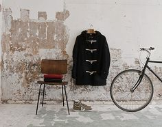 a chair a coat and a bike / these 3 things +