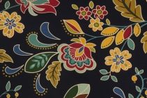 Amadov-Brompton in Midnight Printed Cotton Drapery Fabric by Mill Creek $9.95 per yard