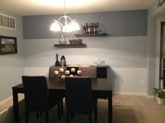 Stripe wall - colors from same paint card
