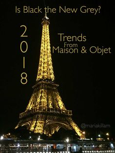 Is Black the New Grey? Trends for 2018 from Maison & Objet