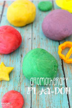 Aromatherapy Play-doh on Frugal Coupon Living. This Homemade Aromatherapy Play Dough is so fun. It is easy to make, leaves the skin soft and has many health benefits. Consider these oils – Lavender, Lemon, Peppermint, Grapefruit or Orange.