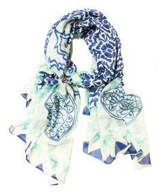 Loving this Blue Moroccan Scarf on #zulily! #zulilyfinds
