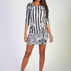 3/4 length mini dress