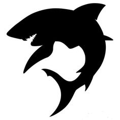 handmade re-usable washable mylar stencil,great for a number of uses,airbrushing,shirt painting,home decor and many Shark Silhouette, Silhouette Art, Airbrush Shirts, Shark Drawing, Shark Logo, Great White Shark, Scroll Saw Patterns, Pyrography, Zombies