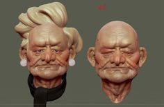 #Zbrush #Tutorial :  #Sculpting an old woman This Zbrush tutorial is about how to sculpt an Old woman. Sculpting an old woman in zbrush.  http://www.allcgtutorials.com/2013/zbrush-tutorial-sculpting-an-old-woman/