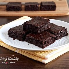 Flourless Fudgy Brownie (1 egg and on-hand ingredients. Sub honey.)