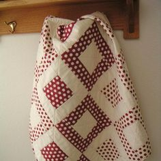 Red and White Polka Dot Baby Quilt