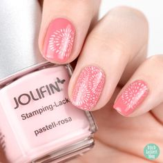 Jolofin Stamping Lack pastell-rosa