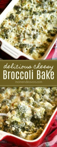 Rich and creamy, this cheesy broccoli bake is the perfect side dish. Vegetarian, Low Carb Recipe, made with fresh ingredients & no condensed soups! Sponsored by @ShamrockFarms AD #LowCarb #keto #sidedish