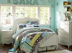 GIRLS TURQUOISE WESTERN ROOM | Of course the price for just the quilt is more than I want to spend on ...