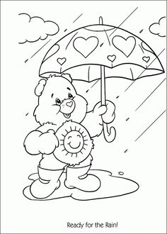 Care Bears Coloring Page Ready For The Rain Find This Pin And