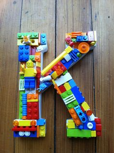 Custom toy brick mosaic letter K. by MosaicTreasureBox on Etsy