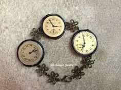 Repurposed watch faces bracelet