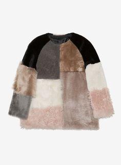 Sobretudo patchwork - Cuir - Ready to wear - Uterqüe Portugal