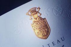 Dorure galbée & foulage - Création Autajon Étiquette Wine Design, Label Design, Graphic Design, Print Finishes, Wine Labels, Monogram Logo, Modern Country, Business Card Logo, Emboss