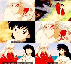 Lord Sesshomaru, InuYasha, and Kagome - screenshots from InuYasha: The Final Act