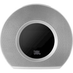 JBL - Horizon FM Dual Alarm Clock Radio with Bluetooth and Dual USB Charging Ports - White