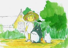 Film: My Neighbor Totoro ===== Scene: Playtime With Totoros