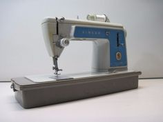 Vintage Singer 604E Sewing Machine Touch & Sew Straight Stitch Tested