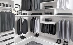 Walk-in Wardrobe by Presotto Italia. This wardrobe in Sydney is now available through Eurolife.