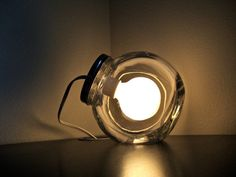 Modern Glass Jar Lamp with Frosted Light Bulb / by BLIndustries, $76.00