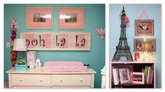 Paris Theme Tiffany Blue Nursery