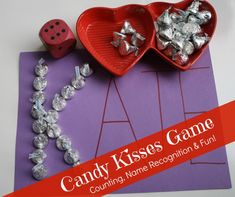 Candy Kisses Game: Fun learning activity for Valentine's Day