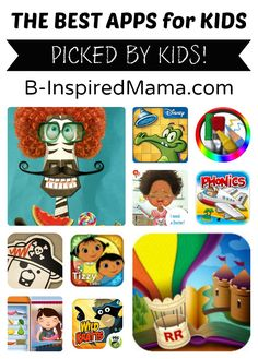 B-Inspired Mama's little ones share their picks for Best Apps for Kids - for iphones, ipads, and android tablets, too!