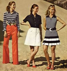 1973 - Nautical vibes. I would where every single one of these outfits, so cute!