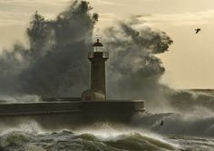 Lighthouse and Sea Photo by Rui Sousa