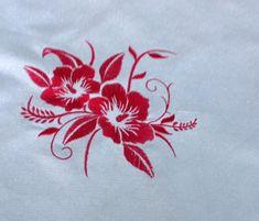 Blue Flower design embroidered