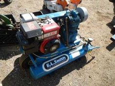 "FOR ONLINE AUCTION Wednesday, April 17th ARA of Michigan Auction Repocast.com EL Smith Air Compressor, 5hp, Briggs & Stratton, Model 143B58, dbl 1/9"" Outlet, Runs. Auction is open to the public! For more information, call Repocast 866-550-7376 or visit Repocast.com Used Construction Equipment, Air Compressor, Wednesday, Michigan, Auction, Public, Model, Models"