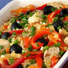 A delicious combination of ingredients makes up the tasty Greek Style Chicken and Rice Salad. Greek Style Chicken and Rice Salad Recipe from Grandmothers Kitchen.