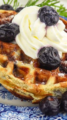 Delicious blueberry chaffles are the perfect holiday keto breakfast with traditional flavors. All in a sugar-free, low carb, pretty package topped with whipped cream for the perfect keto diet special treat. Blueberry Bushes, Blueberry Crumble, Cheese Waffles, Low Carbohydrate Diet, Whipped Cream, Ketogenic Diet, Low Carb Recipes, Sugar Free, Plant Based