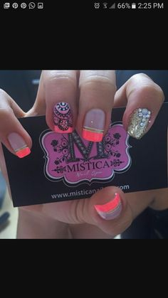 Flower Nail Art, Manicure And Pedicure, How To Do Nails, Manicures, Ideas Para, Beauty, Finger Nails, Short Nail Manicure, Nail Manicure