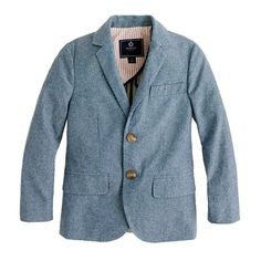 BOYS' LUDLOW SUIT JACKET IN CHAMBRAY
