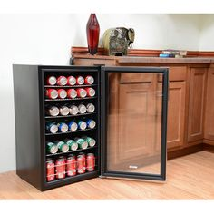 NewAir Beverage Cooler and Refrigerator, Mini Fridge with Glass Door, Perfect for Soda Beer or Wine, Capacity, Stainless Steel Big Fridge, Beverage Refrigerator, Compact Refrigerator, Beverage Center, Smeg, Metal Rack, Best Appliances, Wine Storage, Bars For Home